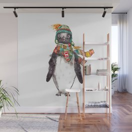 Penguin in a scarf (male) Wall Mural