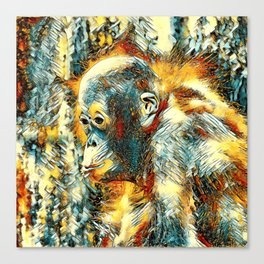 AnimalArt_OrangUtan_20180204_by_JAMColors Canvas Print