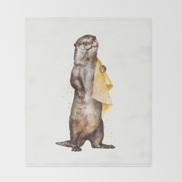 otter Throw Blanket