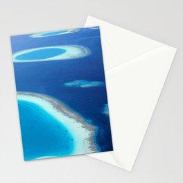 Blue Ocean White Sand Lagoons Maldives Island Paradise Stationery Cards