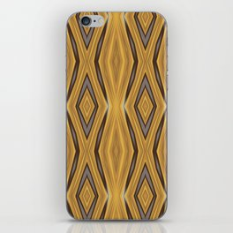 Yellow , Ochre and Brown Diamond Pattern iPhone Skin
