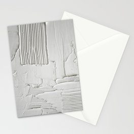 Relief [3]: an abstract, textured piece in white by Alyssa Hamilton Art  Stationery Cards