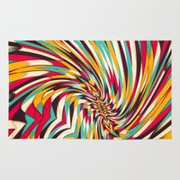 jazzberry Area & Throw Rugs featuring Vanishing Point by Danny Ivan