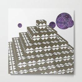 Pyramide Grotesque 10 Metal Print