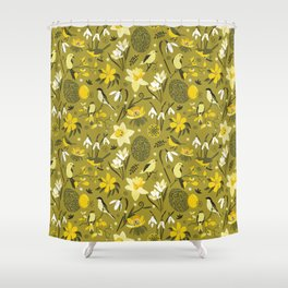 Finally Easter! [mustard] Shower Curtain