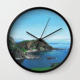 Islay Scotland Oil on Canvas Wall Clock