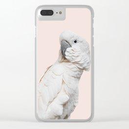 Cockatoo Parrot Photography | Blush Pink | Peach | Happy | Tropical | peek-a-booFun | Paradise Clear iPhone Case