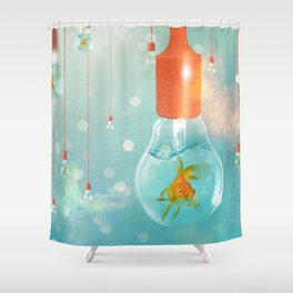 Ideas and Goldfish ... Shower Curtain