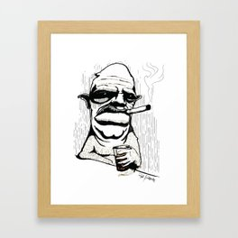 Drink like an animal  Framed Art Print