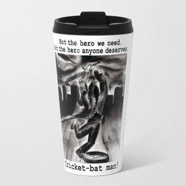 Cricket Bat Man Travel Mug