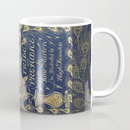 Pride and Prejudice by Jane Austen Vintage Peacock Book Cover Coffee Mug