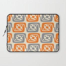 Mid Century Modern Galaxy Pattern 131 Orange and Gray Laptop Sleeve