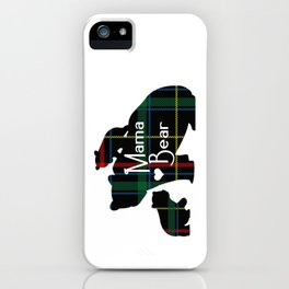 Mama bear Two cubs iPhone Case
