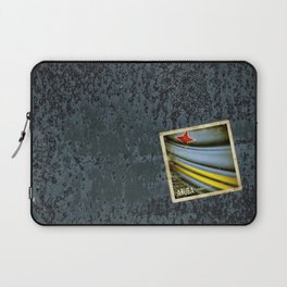 Grunge sticker of Aruba flag Laptop Sleeve