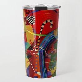 Red green transcendental abstraction Travel Mug