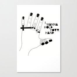 I wanna hold your hand Canvas Print