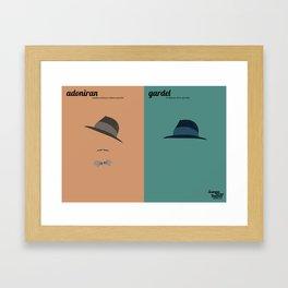 Adoniran x Gardel Framed Art Print