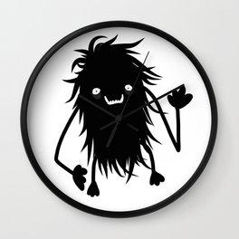 Cute Hairy Monster Wall Clock