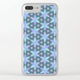 Star Flowers in cool colors Clear iPhone Case