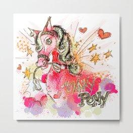 My Kinky Pony Metal Print