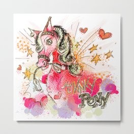 My Kinky Pony Metal Print