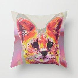 Serval III Throw Pillow