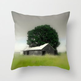 An Aussie Barn Throw Pillow