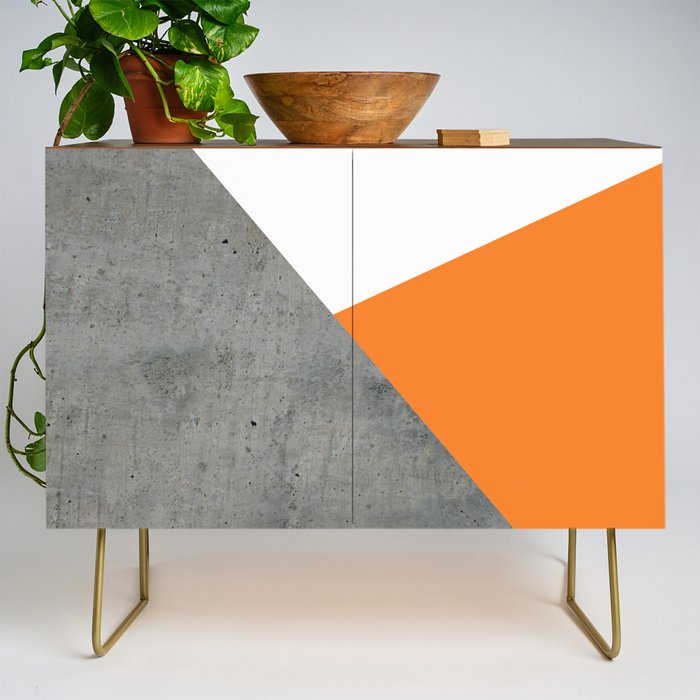 Concrete_Tangerine_White_Credenza_by_ARTbyJWP__Gold__Walnut