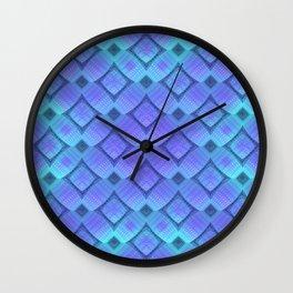 Aqua/Lilac Criss-Cross Wall Clock
