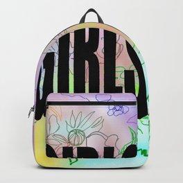 girls gang . Illustration Backpack
