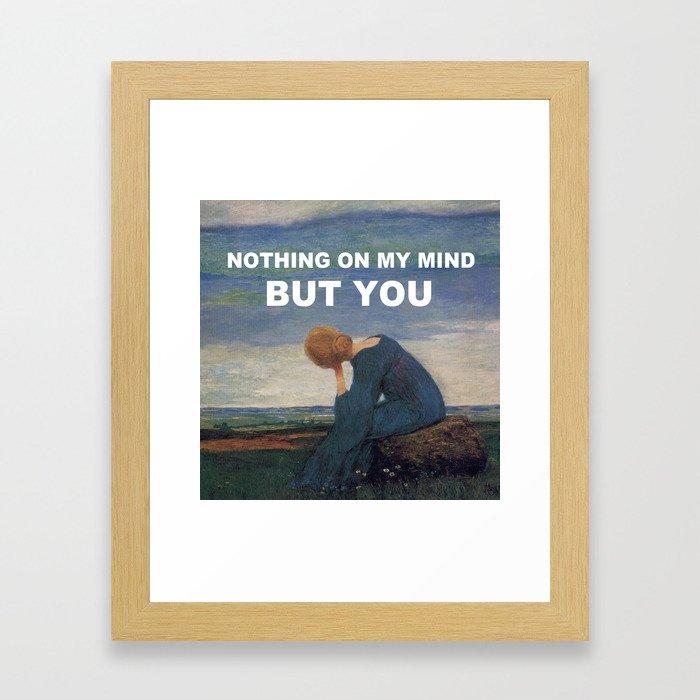 Longing (I Always Knew) Framed Art Print