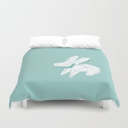 geometric rabbit Duvet Cover