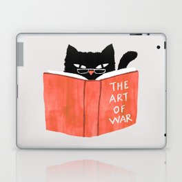 Cat reading book Laptop & iPad Skin