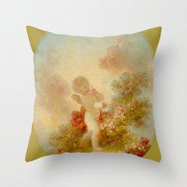"Jean-Honoré Fragonard ""Love the Sentinel 2."" Throw Pillow"