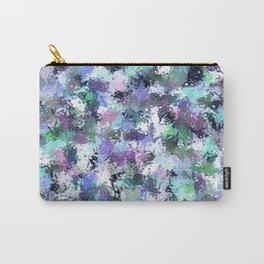 Abstract Blue Paint Splatter Carry-All Pouch