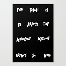THE TRICK Canvas Print