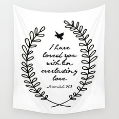 Everlasting Love Biblical Quote, Love Bible Quote, Jeremiah Verse  Wall Tapestry