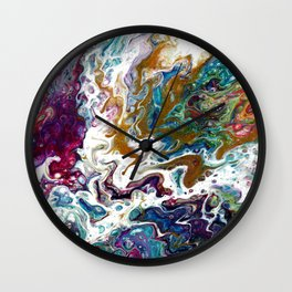Color Oasis digitally enhanced from White Oasis Wall Clock
