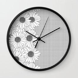 Daisy Grid on Side Wall Clock