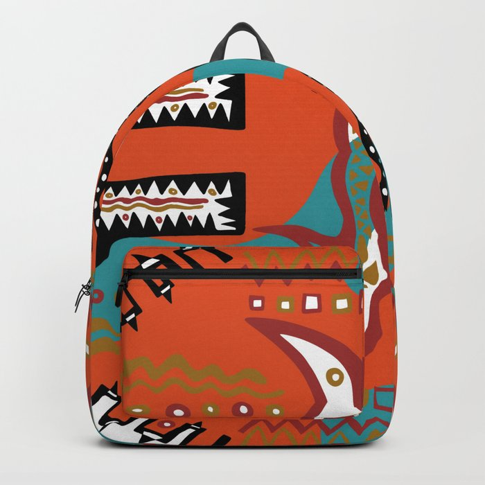 Soul Of the Dream Desert - Carnival Of the Snakes (Orange Edition) Backpack