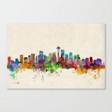 Seattle Washington Skyline Canvas Print