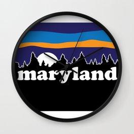 Maryland Moonscape Wall Clock