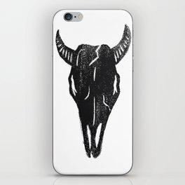 Stamped Skull iPhone Skin