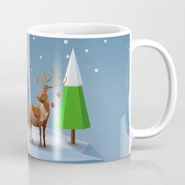 Geometric, low poly winter landscape Coffee Mug