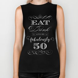 Fabulously Fifty Birthday Biker Tank