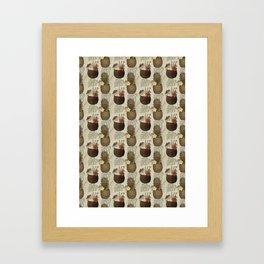 Pineapple Pina Coladas Framed Art Print