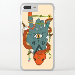 Evil Hand Clear iPhone Case