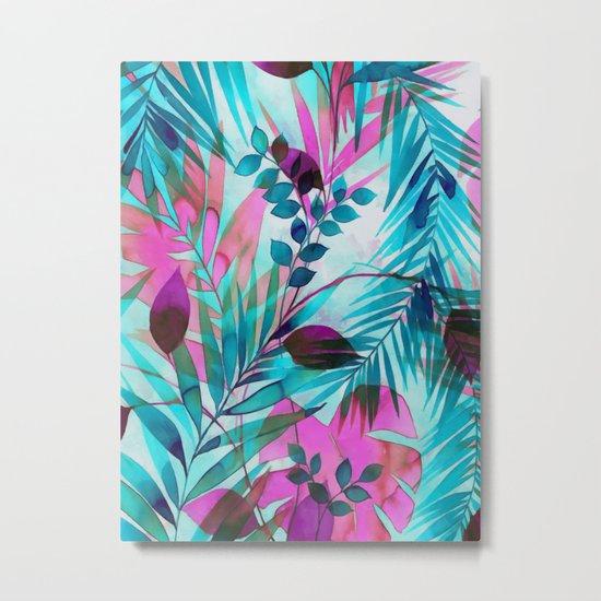 Colorful tropical leaves Metal Print