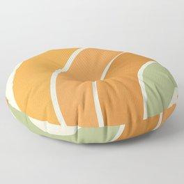 Retro curve Floor Pillow