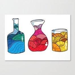 Water, Wine or Orange Juice Canvas Print